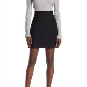 Theory black mini skirt with belt